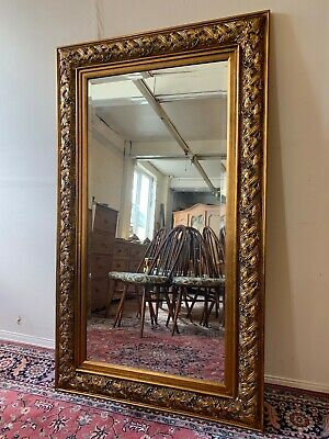 Exceptional Antique Carvers & Gilders Large Gilt Mirror