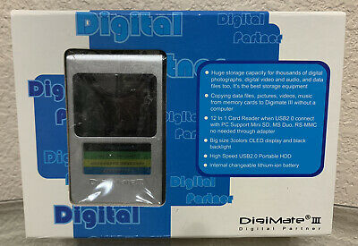 Digimate III Digital Photo Picture Bank With Card Reader In Open Box