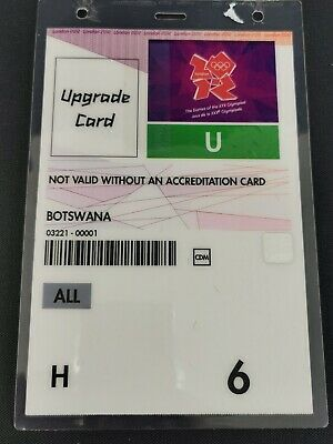 Official London 2012 Olympic Accreditation Upgrade Card All Areas ATOS CDM