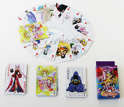 Sailor Moon R Group Guardians Black Lady Endymion Playing Cards One Deck License