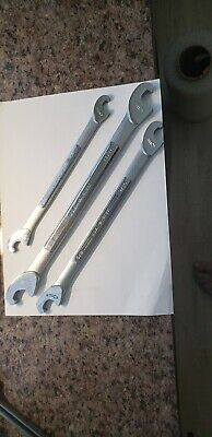 3 pc set Vintage Craftsman USA Double Open End Speed Type Wrench