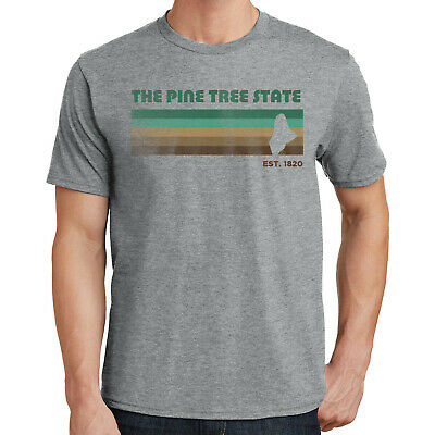"""/""""Made in Maine/"""" T-Shirt S-4XL pine tree state vacationland portland black bears"""