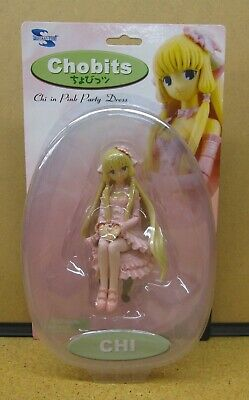 Chobits Chi in Pink Party Dress Figure -MIB