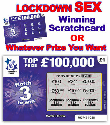 Lockdown Sex Isolation Scratch Card Scratchcard Birthday Card Gift Adult Game