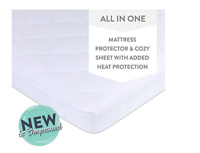 Waterproof Quilted Pack N Play, Mini Crib Mattress Pad Cover - 100% Jersey Knit