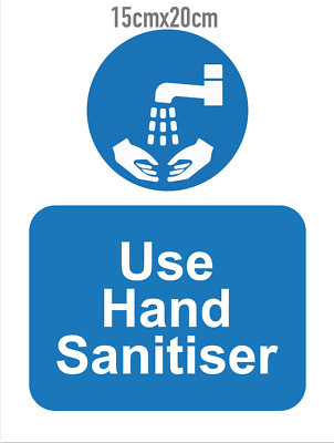 Sanitise Your Hands Sign Sticker- Matt Laminated