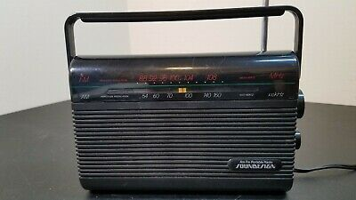 Vintage Soundesign AM/FM Portable 2 Band Radio 2224BLK - Tested, Intact Antenna