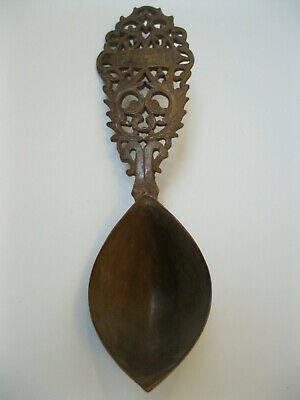 Persian Carved And Pierced Qajar Pre 1900 Century Wooden Sherbet Spoons