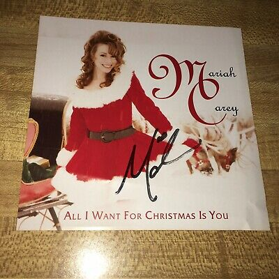 All I Want For Christmas Is You ✎SIGNED♫ by MARIAH CAREY CD w Autographed Insert