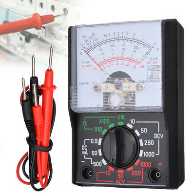 Analogue Multimeter AC DC Volts Ohm Ammeter Electrical Circuit Multi Tester ~