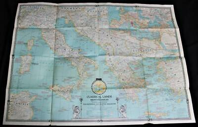 The National Geographic Map Classical Lands Of The Mediterranean 1940 Vintage