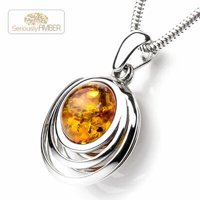 Full Colour Bee on Honey  Baltic Amber Pendant on  Silver 925.