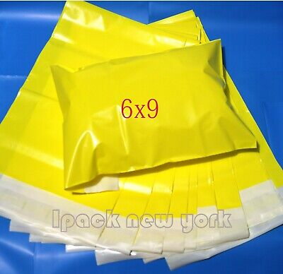 100 6x9 Yellow Poly Mailers Shipping Envelope Shipping Bags 2 Mil