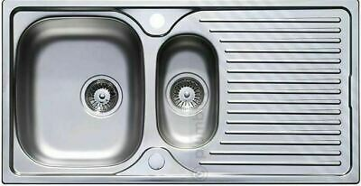 Parallel 1.5 Stainless Steel Kitchen Sink 1 And Half Bowl  Reversible 1 Tap Hole