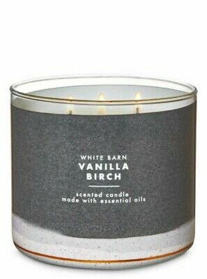 1 Bath /& Body Works VANILLA BIRCH Large 3-Wick Scented Candle 14.5 oz