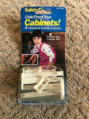Vintage Safety 1st Child Proof Your Cabinets Drawer Latches SEALED