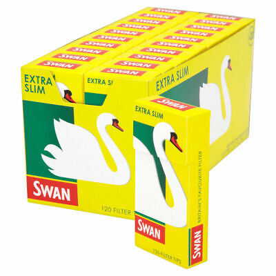 SWAN EXTRA SLIM PRE CUT CIGARETTE FILTER TIPS PACK OF 1 5 10 20 x 120 Box