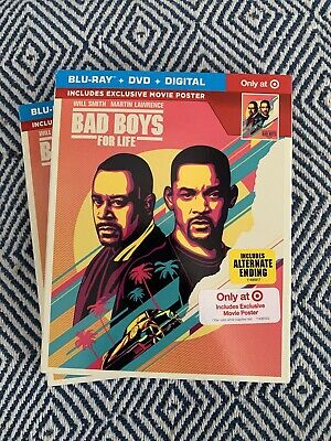 Bad Boys For Life (Blu-ray/DVD/Digital) Open But  New Target Exclusive. No Code