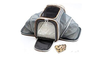 Pettyella Luxury pet  small dog or cat carrier NEW Gray