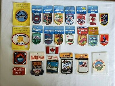 Vintage 1970's Travel Sew-On Patches & Adhesive Emblems