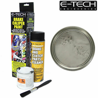 Silver E-Tech Brake Caliper Paint Kit Also For Drums Car ETECH Engine Bay