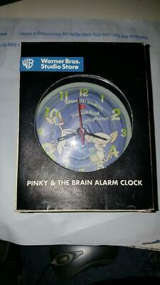 Rare boxed 1997 Alarm Clock Pinky and the Brain Wind Up Warner Bros see pics