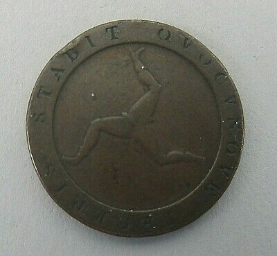 Isle of Man 1813 1/2 Penny Coin Nice Condition Great Britain