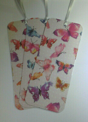 3x Butterfly Bookmarks Birthday Christmas Party Stocking Filler Teacher Gift