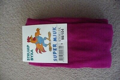 NEW X-STORE GIRLS AGE 7-9 YRS (134/140cm) FUCHSIA THICK COTTON RICH TIGHTS BNWT