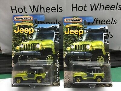 2016 Matchbox 1998 Jeep Series Wrangler Green with roof rack Anniversary Edition