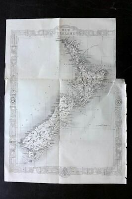 J. Rapkin 1860 Antique Map. New Zealand