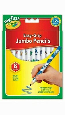 Crayola My First Easy Grip Jumbo Decorated Colouring Pencils 8 Pack Bright Color