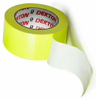 DEKTON Fluorescent High-Vis Duct Tape Tough Extra Strong & Durable 50mm x 25M