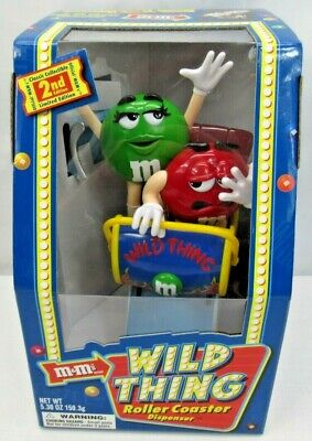 Mars Inc M&M's Wild Thing Roller Coaster Jukebox Candies Dispenser VINTAGE 2002