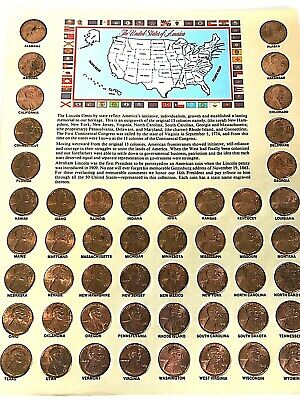 Lincoln Cents By State Penny Coin Collection and Manual