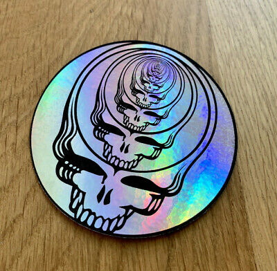 Grateful Dead Steal Your Face Holographic Infinite Skull Premium Sticker 3 in