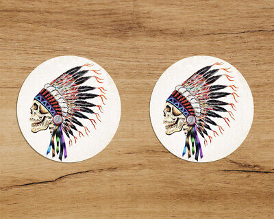 Grateful Dead Indian Chief 2-pack Premium Quality Decal Sticker 3in Jerry García