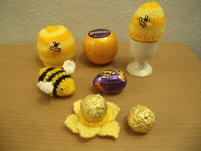Chocolate Orange cover  Beehive and Bumble Bee  knitting pattern