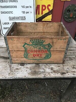 """Canada Dry Ginger Ale Wood Wooden Soda Bottle Crate Case T-12-60 18"""" X 12"""" X 10"""""""