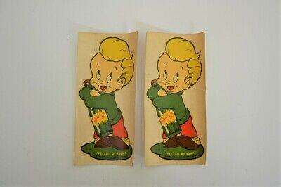 Two 1947 SQUIRT SODA Decals Rare
