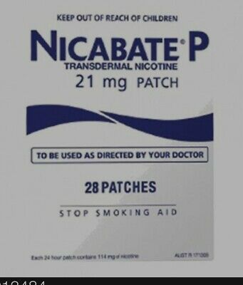 Nicabate P Transdermal Nicotine Patch 21mg 28 Patches Stop Quit Smoking Aid