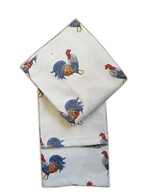Leslie Gerry Rooster Design Tea Towel 100/% Cotton Dish Cloth Kitchen Animal Gift