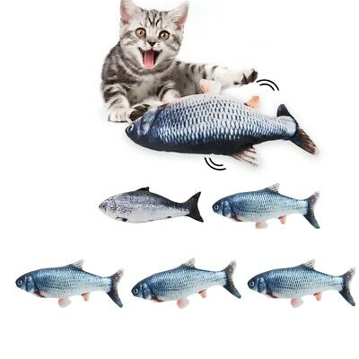 3x Electric Cat Wagging Fish Toy for Cats Biting Chewing and Kicking Catfish