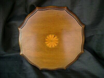 Reclaimed/Salvage Antique Mahogany Fan Inlaid Marquetry Panel .