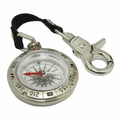 2x Portable Compass Brunton Camping Hiking Hunting Outdoor Sport Keychain Rin J$