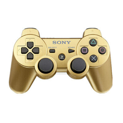 Original Sony PlayStation 3 PS3 Controller DualShock 3 Wireless SixAxis Gold cf