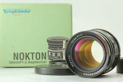 【Boxed Very good】 Voigtlander Nokton 50mm F/1.5 Aspherical L39 From Japan #581