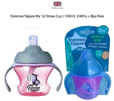 Tommee Tippee My 1st Small Straw Cup ( 150ml)  9 Mths + Bpa Free-  Cute -New -UK