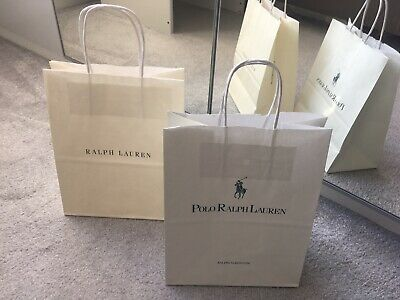 2 X Used Genuine Polo Ralph Lauren Paper Carrier Gift Bag
