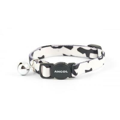 Ancol CAMOUFLAGE Cat Collar Quick Release Safety Buckle With Bell 20-30cm Black